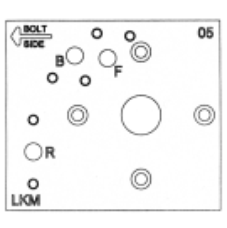 Bohrschablone für mechanische Schlösser: Mosler 302