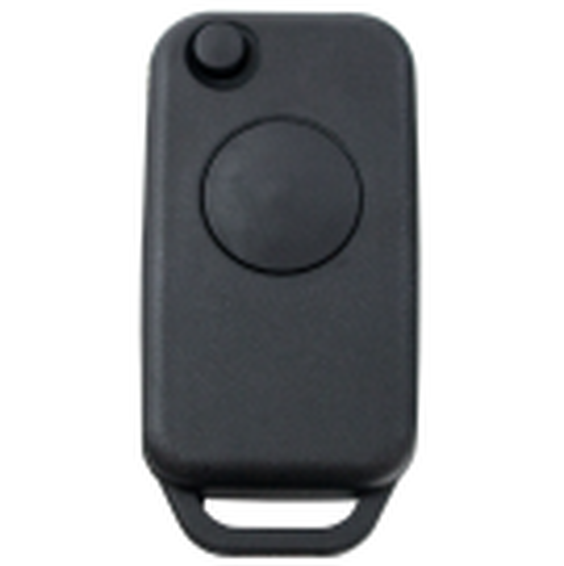 Klappschlüsselhülle für Mercedes Benz mit einem Knopf (HU64)