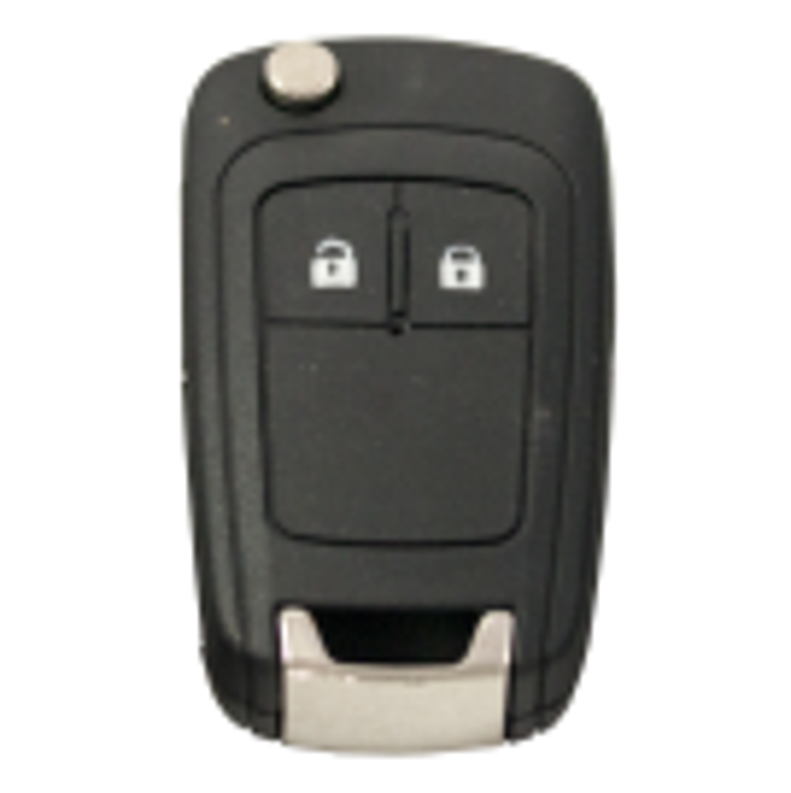 Klappschlüssel mit 2 Tasten für Opel