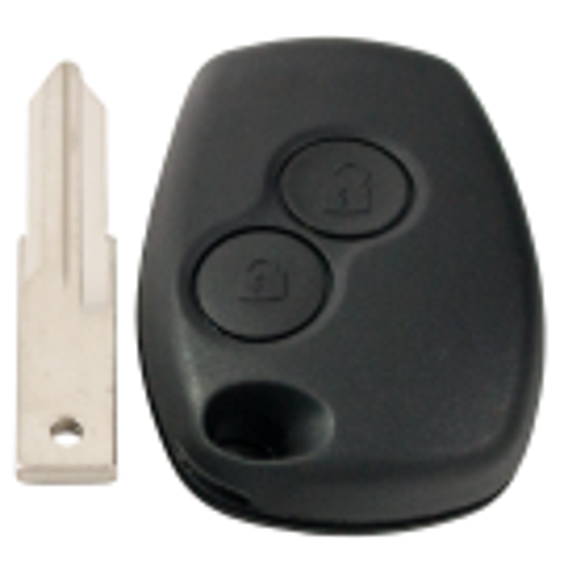 Leergehäuse 2 Taster mit VAC102 Rohling
