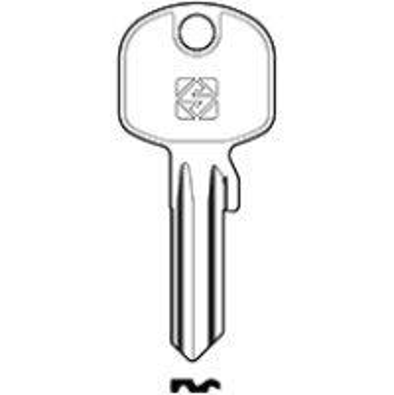 Schlüsselrohling BAI1 - Stahl