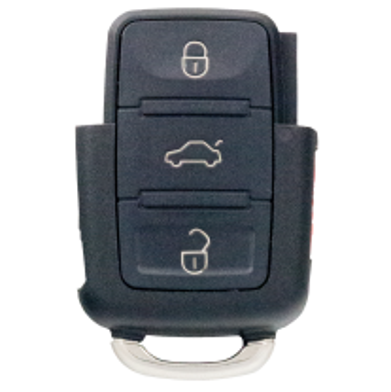 Fernbedienungsgehäuse eckig mit 3 Tasten mit Panik Knopf für VAG Modelle
