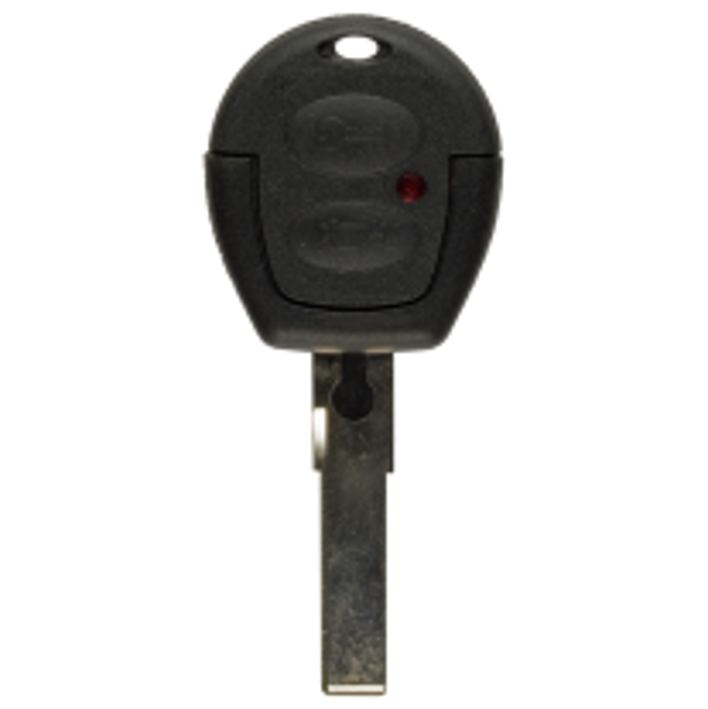 Leergehäuse 2 Taster mit HU66 Rohling für VW