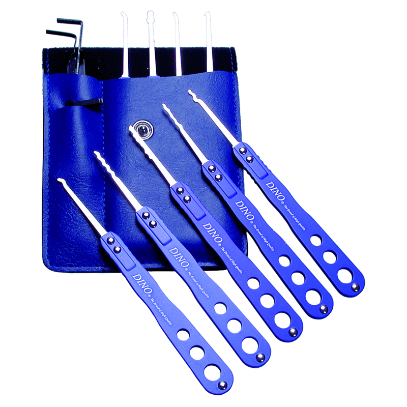 "Pick Set ""Blue-Stainless 14"""