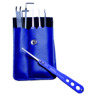 """Pick Set """"Blue-Stainless 14"""""""