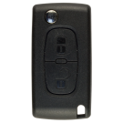 Flip key Shell with 2 buttons for Peugeot HU83