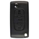 Flip key Shell with 3 buttons for Peugeot HU83