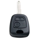 Key case with 2 buttons for Citroen with NE72 profile