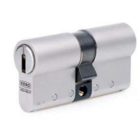 KESO 4000SΩ Double profile cylinder -  asymmetrical with drill protection