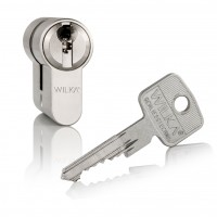 "Double profile cylinder WILKA series ""Carat S4"" incl. security card - keyed alike locking"