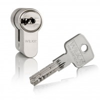 "Double profile cylinder WILKA series ""Carat S5"" incl. security card (horizontal reversible dimple-key system)- keyed alike"