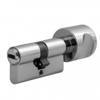 "Double profile cylinder with knob WILKA series ""Carat S5"" incl. security card (horizontal reversible dimple-key system)- keyed alike"