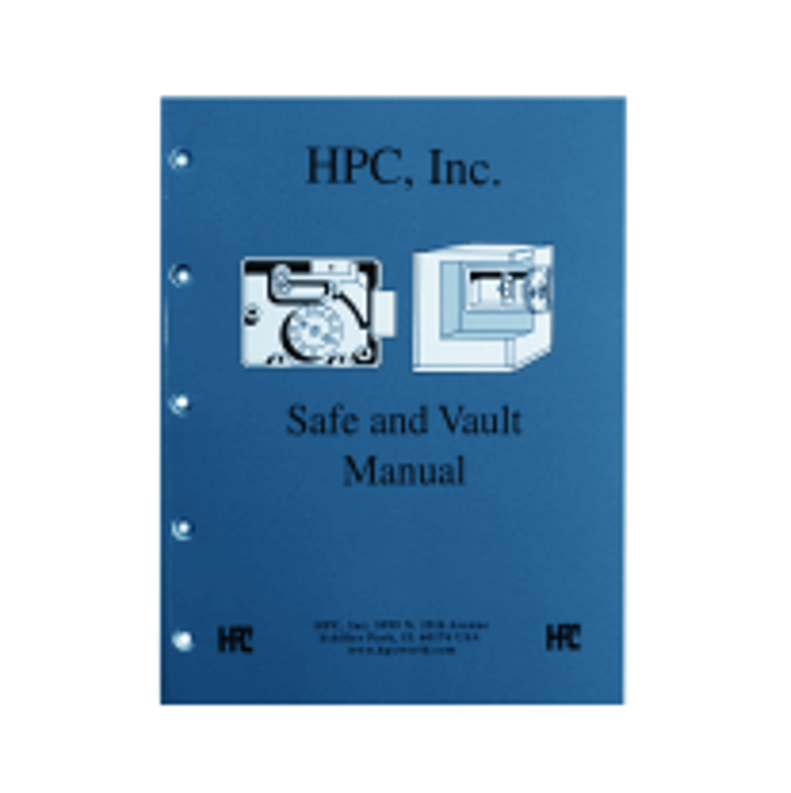 """Book """"Safe and Vault Manual"""", English"""