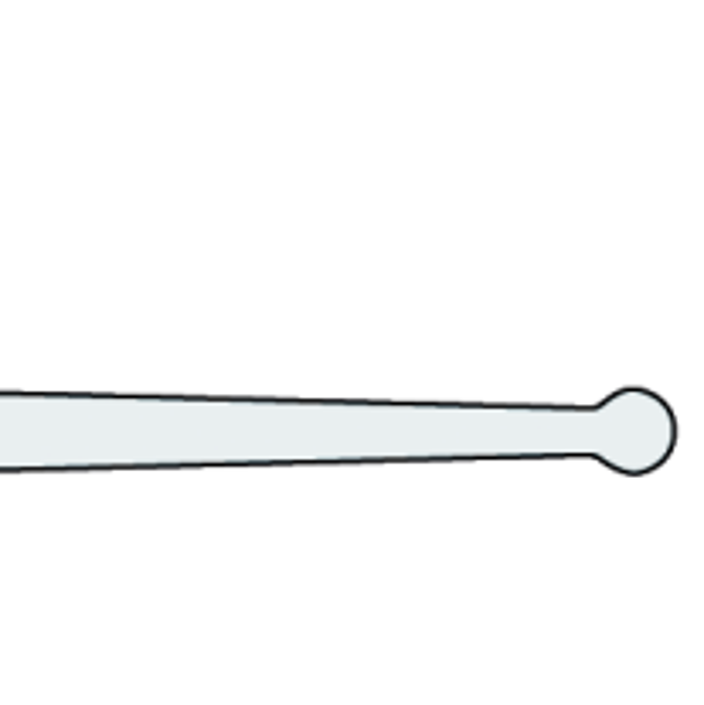 "LOCKMASTER® Lock Pick with handle : Ball Pick (0,5mm / .020"")"