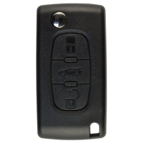 Flip key Shell with 3 buttons for Peugeot VA2