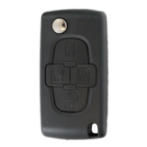 Flip key Shell with 4 buttons for Peugeot HU83