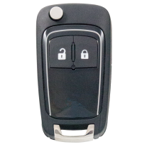 Flip key for OPEL / GM and Vauxhall (433 MHz) silver
