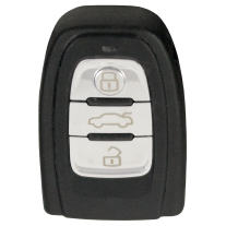 Key shell with 3 buttons for AUDI Keyless