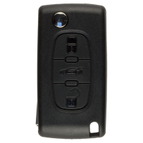 Flip key case for Citroen with 3 buttons with VA2 profile