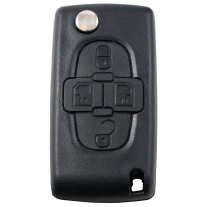 Flip key with 4 buttons for Peugeot (433 MHz)
