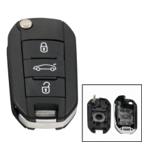 Folding key cover for Peugeot with 3 buttons and VA2 profile (new version)