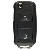 Flip key shell with 2 buttons for VW / SEAT / SKODA (New)