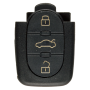 Remote Shell with 3 Buttons for AUDI