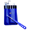 """Pick Set """"Blue-Stainless 7"""""""