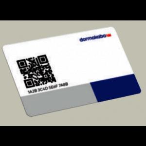 dormakaba user card, LEGIC Advant, 4KB, white, QRC