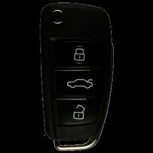 Klappschlüssel mit Fernbedienung 433 MHz mit 3 Tasten für AUDI