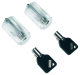 Tubular-Pick Übungszylinder, transparent, 2 Stück