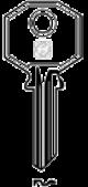 Schlüsselrohling BUR2 - Stahl