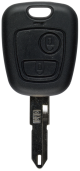 Key shell with 2 buttons for Peugeot NE72