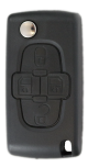 Flip key Shell with 4 buttons for Peugeot VA2