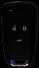 Klappschlüssel für Chevrolet 433 MHz