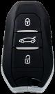 Keyless Schlüssel für Peugeot (433MHz)