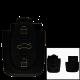 Fernbedienungsgehäuse mit 3 Tasten für AUDI