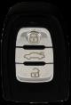 Leergehäuse 3 Tasten für Audi Keyless