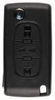 Klappschlüsselgehäuse für Citroen mit 3 Tasten mit VA2 Profil