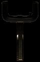 Wide key head for OPEL remote control key (HU43 profile)