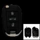 Klappschlüsselhülle für Peugeot mit 3 Tasten und VA2 Profil (Neue Version)