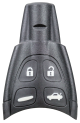Key shell for Saab Remotes with 4 buttons